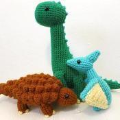 Amigurumi Dinosaur Bundle #3