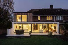extension de maison vitrée et véranda design : photo de The Beckett House