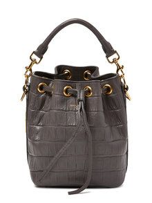 c0b5a9843c5b Saint Laurent Paris Emanuelle Croc Embossed Leather Small Bucket Bag from  Gilt - Styhunt