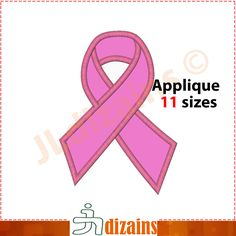 Awareness Ribbon applique design. Machine embroidery design - INSTANT DOWNLOAD - 11 sizes by JLdizains on Etsy