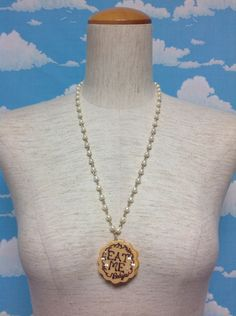 Eat me Necklace in Beige from Baby, the Stars Shine Bright - Lolita Desu