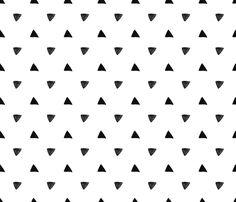 Black Triangles on white background - geometric modern pattern fabric by bellaloveletters on Spoonflower - custom fabric App Background, Black Background Wallpaper, Black And White Wallpaper, Black And White Picture Wall, Black And White Background, Black And White Pictures, Black And White Aesthetic, Pink Aesthetic, White Pattern Wallpaper
