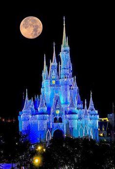 Magic Kingdom The Moon Full Disney Land Worlds Parks