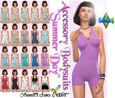 "Sims 4 CC's - The Best: Accessory Bodysuits ""Summer Day"" by Annett85"
