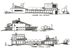 Concept sketches Architectural Drawings, Floor Plans, Sketches, Concept, Architecture, House, Drawings, Arquitetura, Home