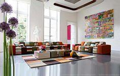 Kanapé, ülőgarnitúra, nappali szoba berendezés ötletek - Roche Bobois kanapék 01