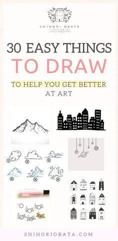 30 Cool & Easy Things to Draw to Get Better at Art Drawing Tips drawing for beginners Drawing Lessons, Drawing Tips, Art Lessons, Drawing Sketches, Sketching, Drawing Art, Drawing Techniques, Learn Drawing, Drawing Ideas Kids