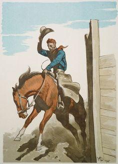 Bronco rider (after Maynard Dixon) by Maynard Dixon