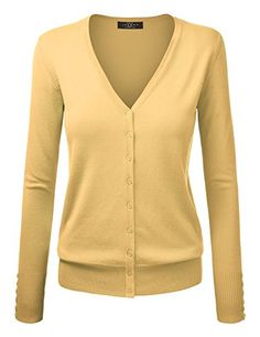 837e1c17aa MBJ Womens Long Sleeve Button Down Classic Knit Cardigan Sweater   Check  this awesome product by