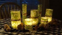 Pottery Barn(ish)  Fabric Luminaries