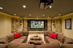 The Best DIY and Decor Place For You: I love this room decoration and this BIG TV!!!
