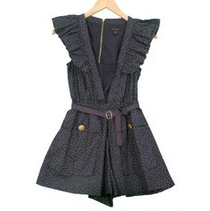 DIY Romper. So cute, I will have to find a pattern I like and I love the polka dot fabric she uses for her own! <3