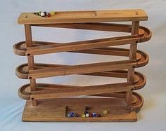 We also call it the Wooden Babysitter as kids will sit and play with these for hours. This one is particularly fun as you can keep putting the marbles