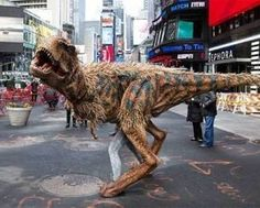 Walking Dinosaur Costume - Scare the pants off your friends with this Jurassic Park inspired costume