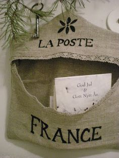 Much prettier than a standard mail and bill organizer! La Poste France