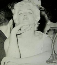 Marilyn Monroe during her visit to Bement, Illinois, August 1955.