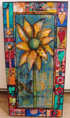 My Art Journal: Made with all kinds of painted papers including Gelli painted papers! - by Diane Salter