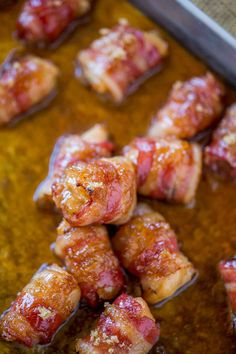 Brown Sugar Bacon Chicken Bites are an AWESOME and quick appetizer!
