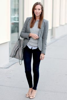 More casual | Stylish Women Office Worthy Outfits For Winter 2014 15