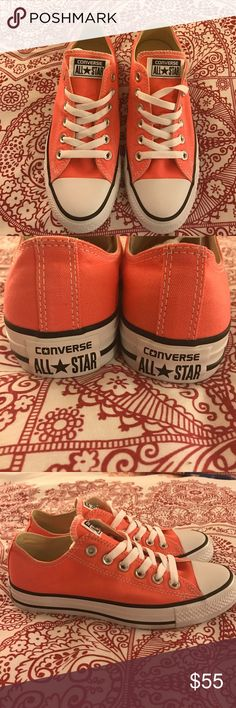 Converse All⭐️Star Chuck Taylors in a beautiful unique pink color. Size 7 woman. New , no box. Must have for spring and summer sneakers. ❤️ Converse Shoes Sneakers
