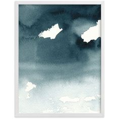 """""""Mist Rises Over the Water"""" - Painting Limited Edition Art Print by... ($31) ❤ liked on Polyvore featuring home, home decor, wall art, water painting, wall paper home decor, unframed wall art and framed paintings"""