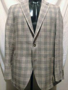 e65d527daa1c eBay  Sponsored  895 NWT PETER MILLAR Gray Wht Rose Windowpane Linen Wool