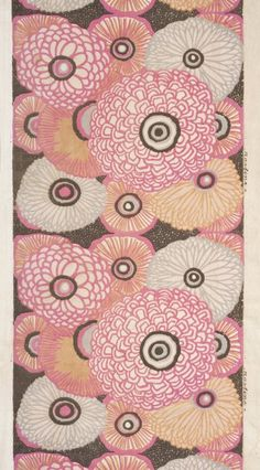 Art Deco Textiles at the Los Angeles County Museum of Art, on view through Feb. 15, 2015. Image: Paul Poiret (France, 1879-1944), Atelier Martine, France (1911-1929), Textile Length, circa 1920. Cotton plain weave, block printed. Gift of Nelya Dubrovich and David Woodruff, M.2012.176.10.