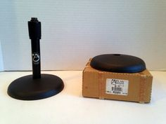 Lot of 2 Atlas DS 7E Adjustable Desktop Mic Stand Base Amp Neck 795102 | eBay
