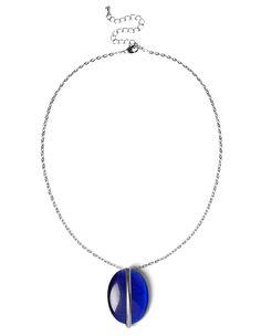 $14.95 Ocean Blue Pendant NecklaceOcean Blue Pendant Necklace, Rhodium/Ocean Blue