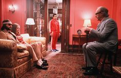"""Every one of Wes Anderson's films is a complete feast for the eyes, but it's almost impossible to top the interior perfection he achieved in """"The Royal Tenenbaums."""" Each room of the Tenenbaum family's Harlem mansion is decked out in Anderson's signature saturated hues and accented with unexpected details like zebra wallpaper.   - ELLEDecor.com"""