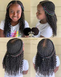 2019 Lovely Stunning Braids for Kids - kids braided hairstyles - Black Girl Braided Hairstyles, Lil Girl Hairstyles, Black Kids Hairstyles, Girls Natural Hairstyles, African Braids Hairstyles, My Hairstyle, Children Braided Hairstyles, African Hairstyles For Kids, Toddler Hairstyles