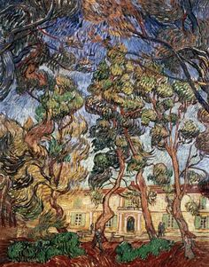 Trees in the Garden of Saint-Paul,  Vincent Van Gogh.