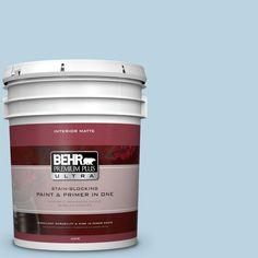 BEHR Premium Plus Ultra 5 gal. #PPU14-16 Millstream Flat/Matte Interior Paint