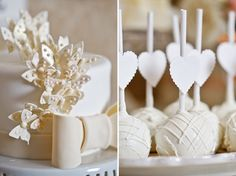 Cake and cake pops - I like this idea