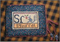 carriage house samplings alphabet sampler | squirrel another sampler from my small alphabet series this sampler ...