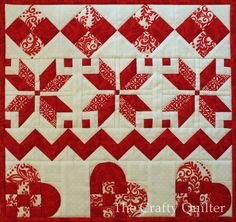 Nordic Mini Quilt by Julie Cefalu @ The Crafty Quilter, Row 4 and finishing, 11/29/14.