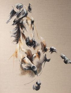 Oil on canvas Copyright L.PLINGUET www.articia.fr #OilPaintingHorse