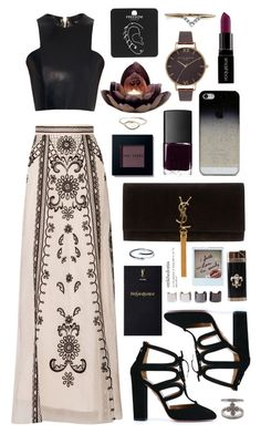 """Untitled #324"" by clary94 on Polyvore featuring Temperley London, Balmain, Aquazzura, Smashbox, Yves Saint Laurent, NARS Cosmetics, BlissfulCASE, Bobbi Brown Cosmetics, Olivia Burton and Topshop"
