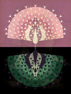 Peacock - East End Prints by dieter braun Art Mural, Wall Art, Art And Illustration, Motif Art Deco, Ideas Geniales, Framed Art Prints, Illustrators, Book Art, Paisajes