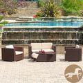 Christopher Knight Home Murano PE Wicker Outdoor 4-piece Sofa Set