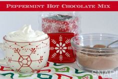 Peppermint Hot Chocolate Mix Recipe via SNAP