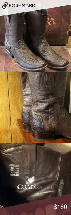 Franco Cuadra Python Leather Men Boots Used. Good condition. Authentic. 100% Leather and phyton. Confortables. Cowboy men's. Franco Cuadra Shoes