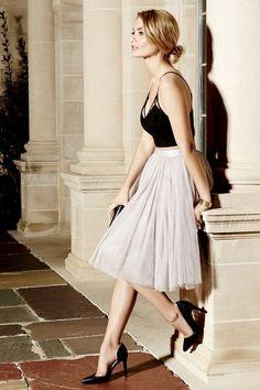Jupon en tulle : All in Good Cheer Grey Tulle Skirt