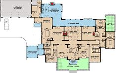 Find your dream european style house plan such as Plan which is a 6641 sq ft, 6 bed, 6 bath home with 3 garage stalls from Monster House Plans. Luxury House Plans, Dream House Plans, House Floor Plans, European Style Homes, European House, French Country House Plans, French Country Style, Grand Foyer, Monster House Plans