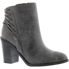 Very Volatile Lacey Women's Grey Boot (3,840 INR) ❤ liked on Polyvore featuring shoes, boots, ankle boots, grey, short grey boots, grey shoes, gray shoes, grey bootie and grey bootie boots