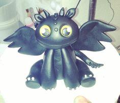Toothless Dragon Fondant Cake Topper
