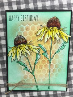 Tim Holtz Flower Garden stamp