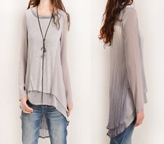 Hey, I found this really awesome Etsy listing at https://www.etsy.com/listing/194371718/gossamer-zen-layered-chiffon-tunic-top