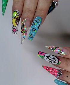 Hippie Nails, Nail Designs, Nail Desings, Nail Design, Nail Organization, Nail Art Ideas