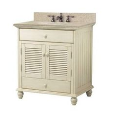 Foremost, Cottage 31 in. W x 22 in. D Vanity in Antique White with Granite Top in Beige, CTAABG3122D at The Home Depot - Mobile